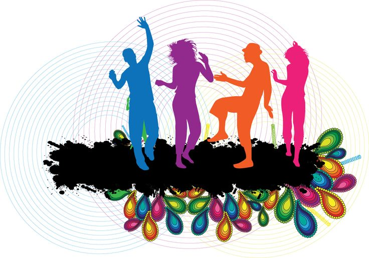 Celebration clipart work party Silhouette clip art people party