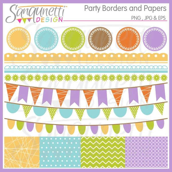 Celebration clipart work party Comes buntings borders  Party