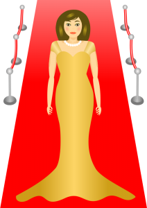 Celebrity clipart Red Art Glamour Celebrity Clip