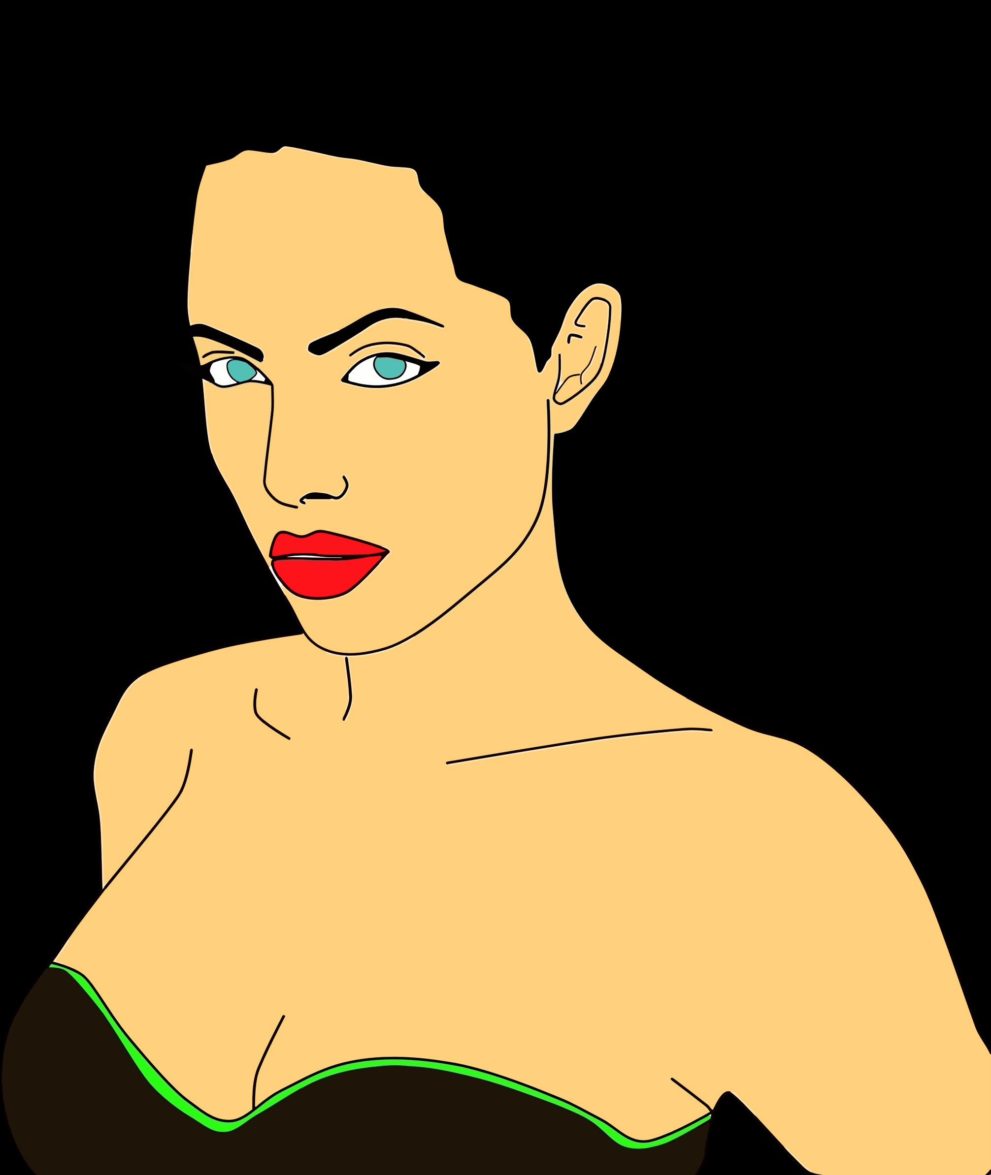 Celebrity clipart angelina jolie Angelina Portrait 2 Portrait Angelina
