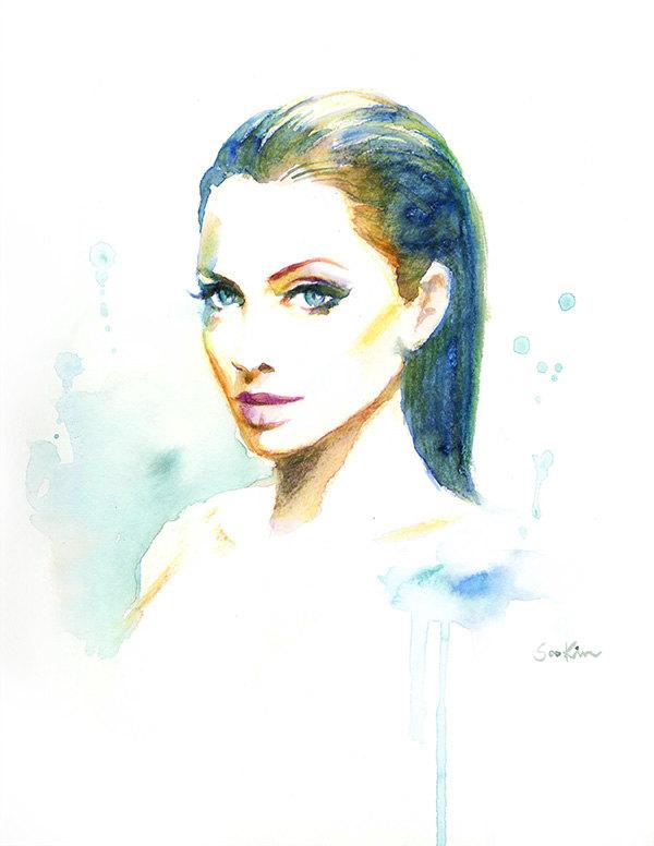Celebrity clipart angelina jolie Celebrity Architecture: Jolie Soo Portraits
