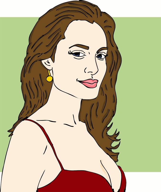 Celebrity clipart angelina jolie Kingpen celebrity news the Angelina