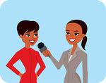 Celebrity clipart informal interview Image of Illustration Vector of