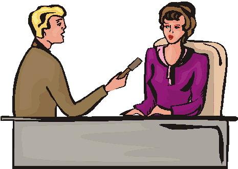 Celebrity clipart informal interview Clip Art Interviewing Clip Interviewing
