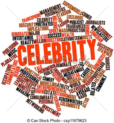 Celebrity clipart word Of Celebrity Celebrity for cloud