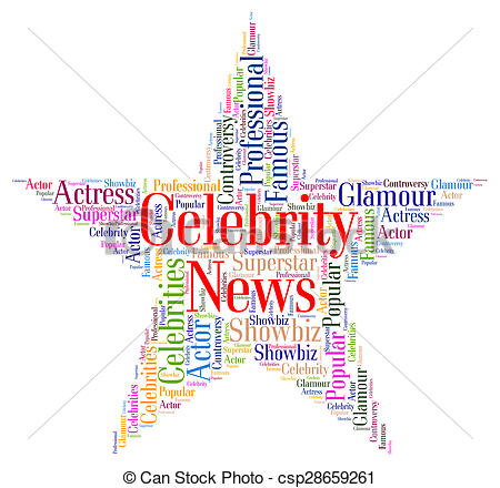 Celebrity clipart word Represents Notorious And Notorious Celebrity