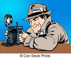 Celebrity clipart work Photographer made style camera EPS