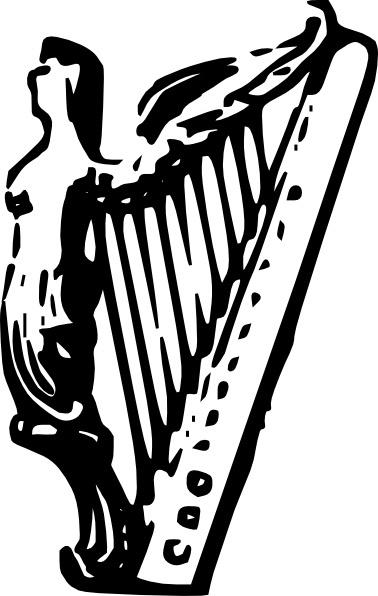 Celt clipart angel  Lineart harp Harp (42