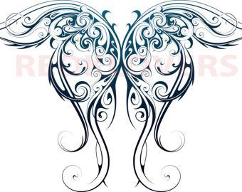 Celt clipart angel File Butterfly angel DXF Etsy
