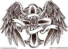 Celt clipart angel Art Tattoo Tattoos Wings black