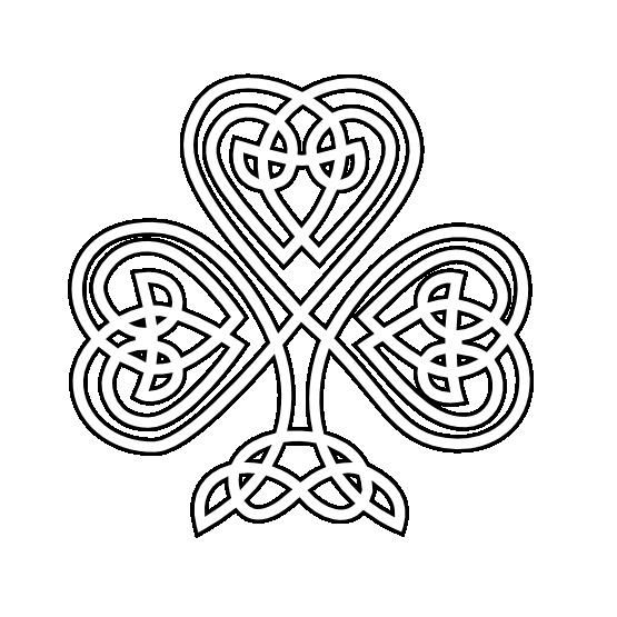 Celt clipart black and white Coloring Shamrock Art Celtic Sheet