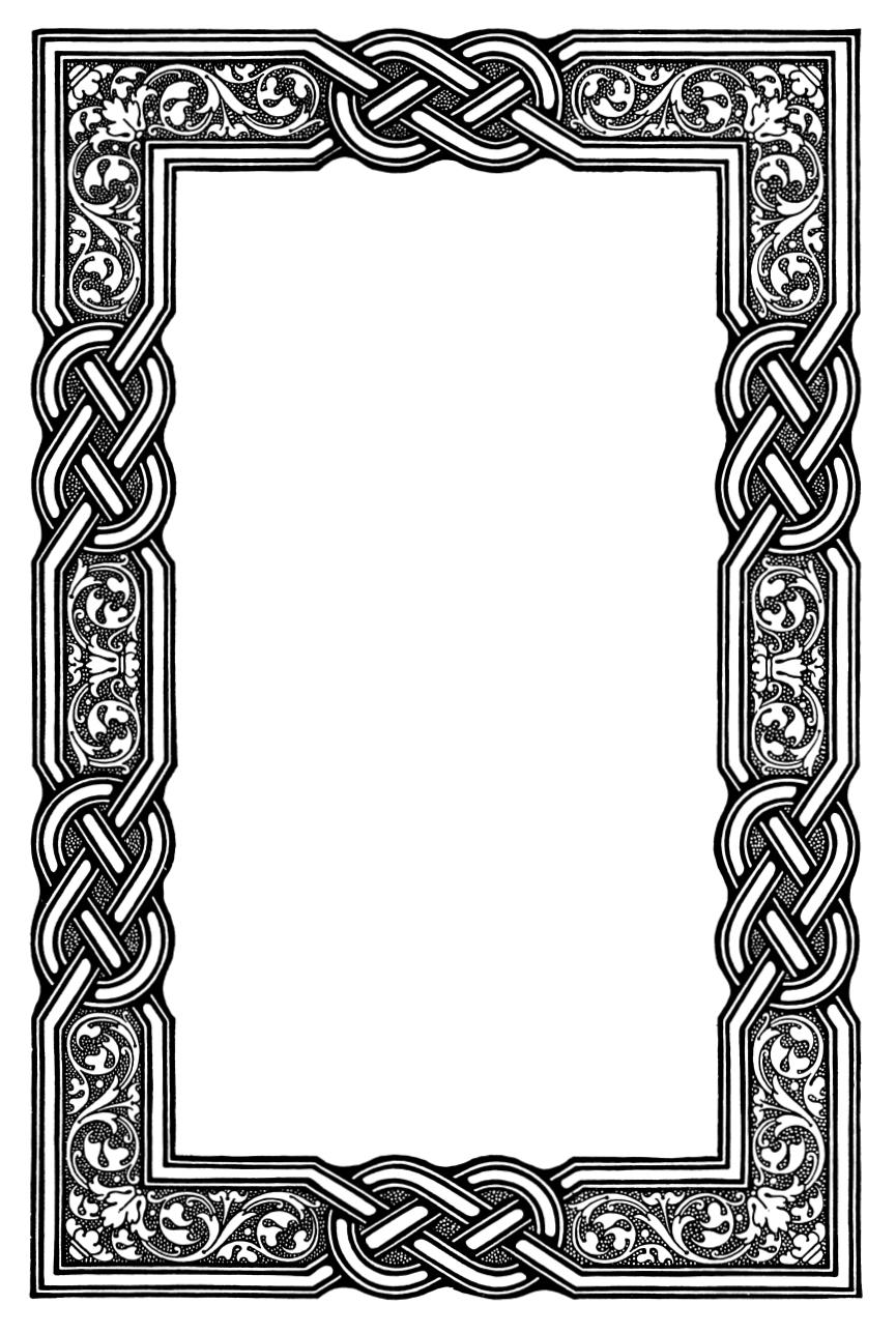 Celtic Knot clipart border Border library Celtic on Clipart