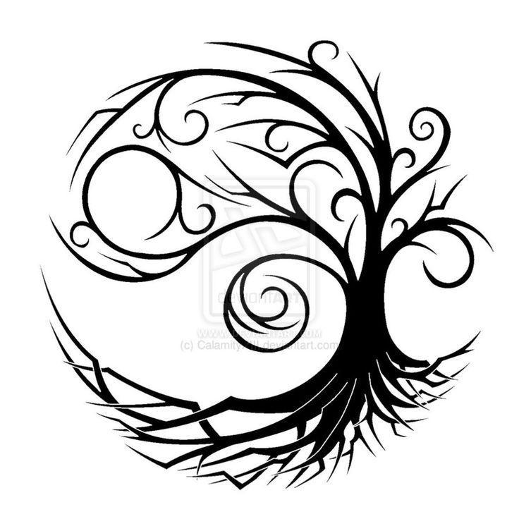 Drawn dead tree celtic tree #15
