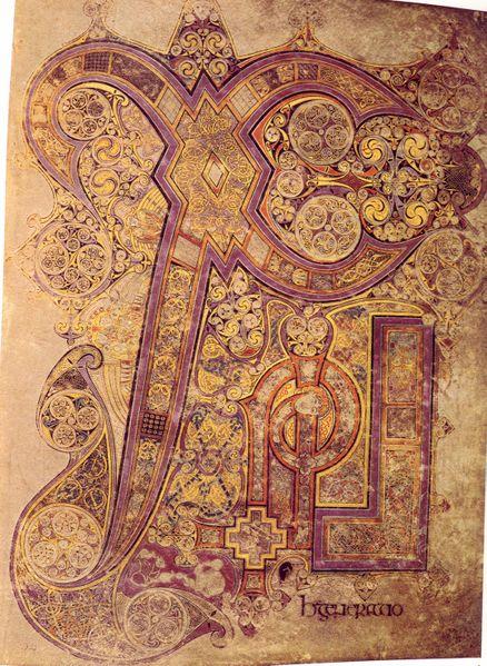 Celtic clipart chi rho The Rho Book of Kells