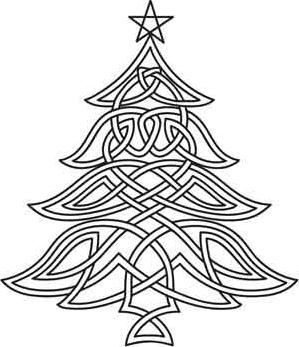 Celt clipart christmas tree Christmas Celtic Pattern thought of