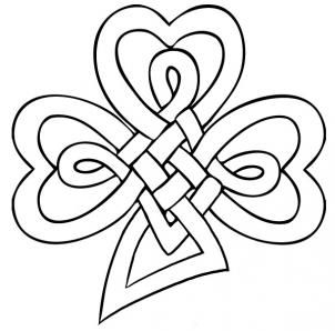 Drawn peacock celtic Knot clover draw to a