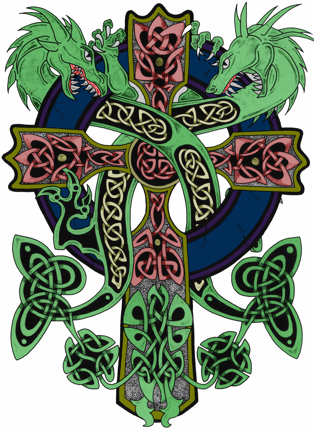 Celtic clipart color By on cross by SmoothRaven7