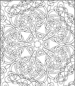 Celtic clipart color Design Printable page adults coloring