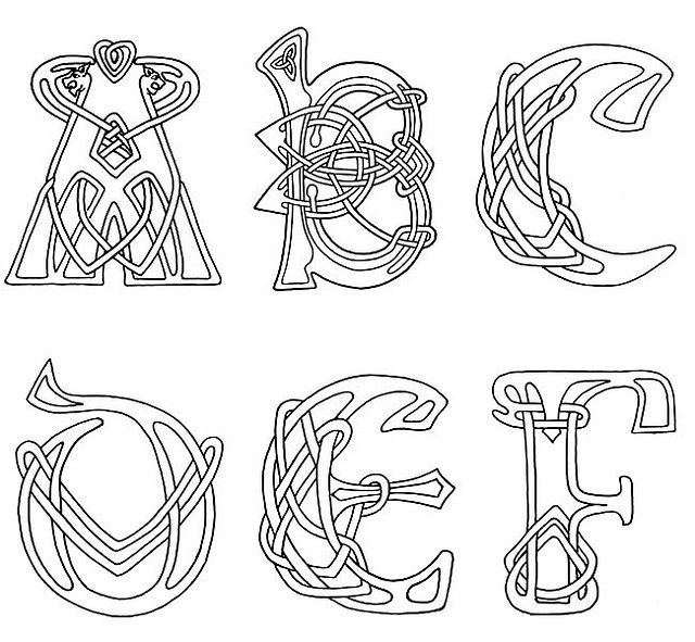 Celtic clipart color Celtic letters letters clipart celtic