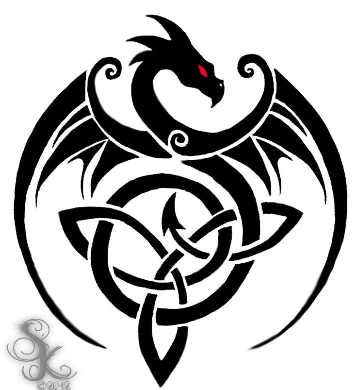 Celtic clipart color Dragon  25+ celtic tattoos