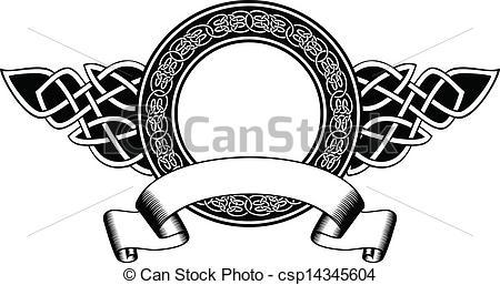 Celtic clipart emblem Frame illustration Vector Vector with
