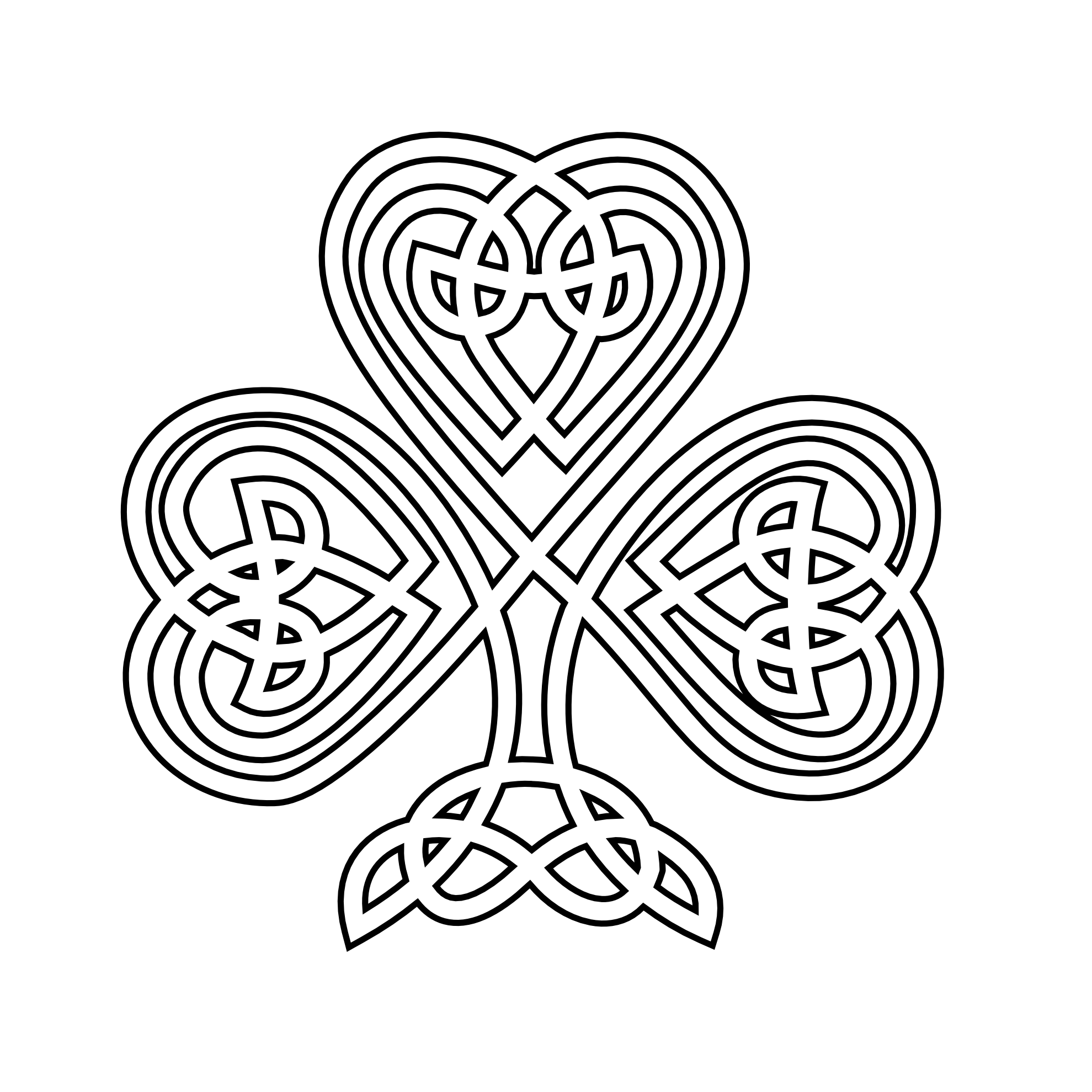 Celtic clipart line Art shamrock Art White Celtic