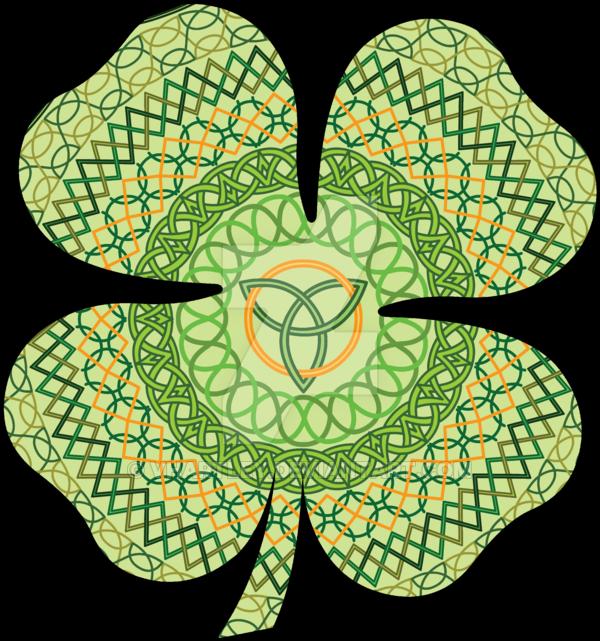 Celt clipart four leaf clover Clover vhartley Celtic Leaf on