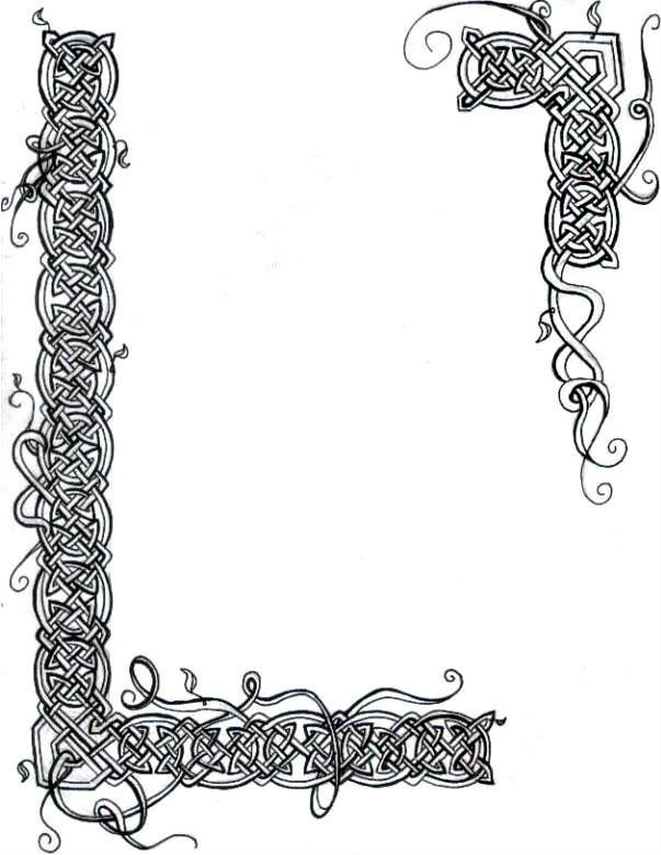 Celtic clipart line Border Illuminated  Celtic Vines