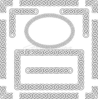 Celt clipart frame corner Pyrography celtic  border &
