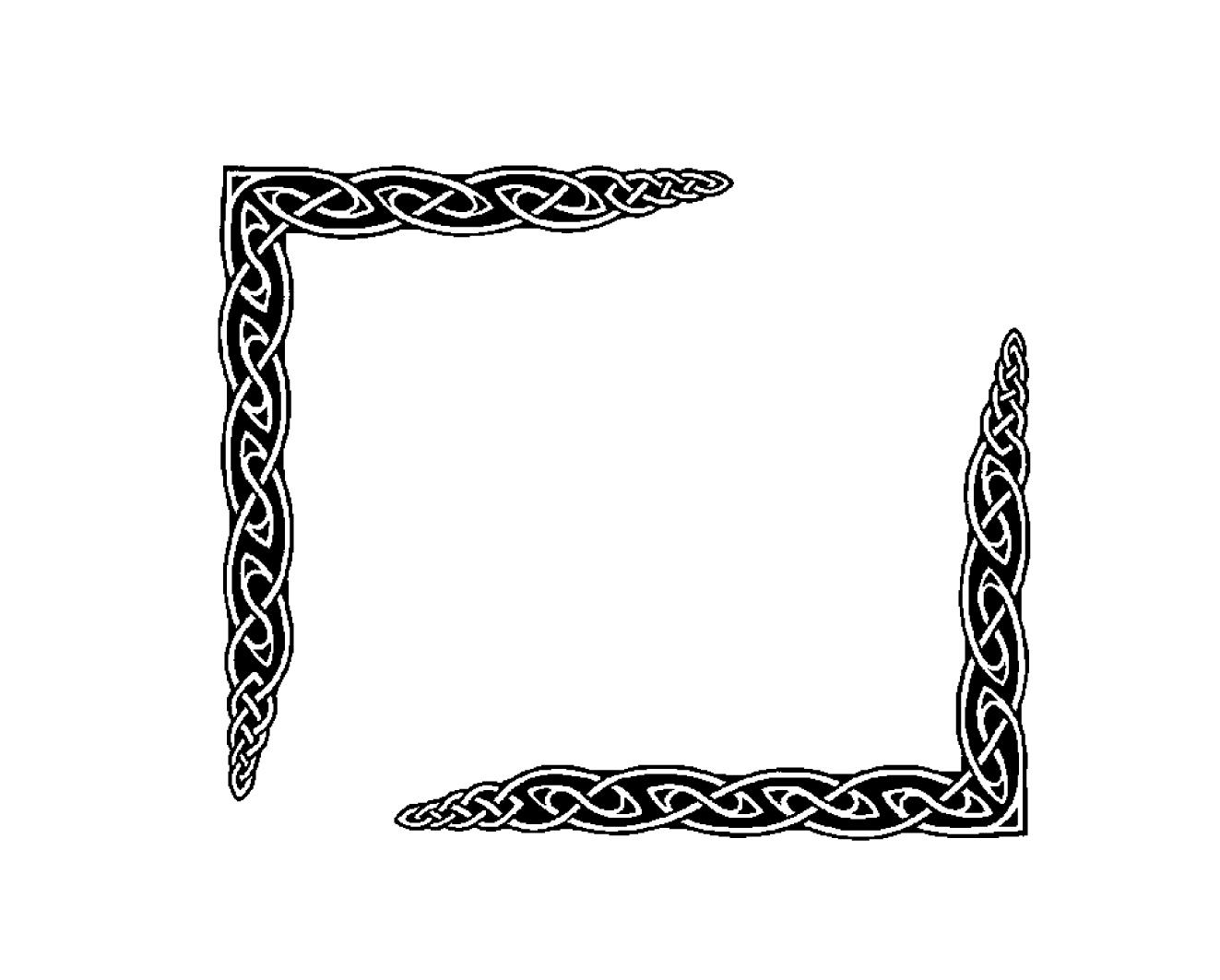 Celt clipart frame corner Corner Knot Celtic border Clip