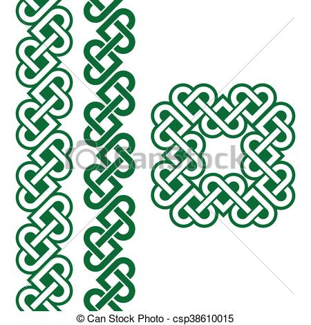 Celt clipart green irish Irish patterns knots green green
