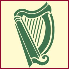 Celt clipart green irish Harps  frame are and