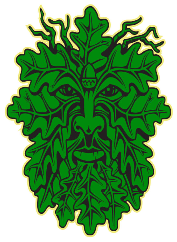 Celtic clipart green man Pagan pagan pentacle Decals witch