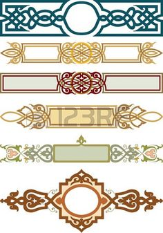 Celt clipart horizontal Artworks more gold of Horizontal