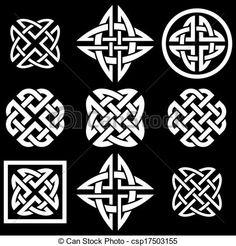 Celtic clipart icon Celtic stock Celtic illustrations Knots