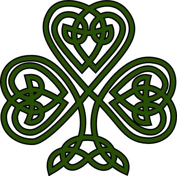 Clover clipart celtic Celtic Pinterest ideas Shamrock Irish