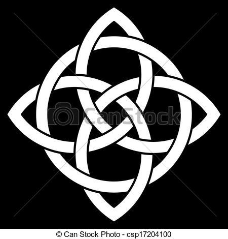 Pentagram clipart vector Vector Celtic black point of