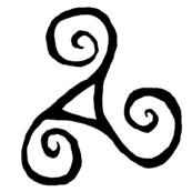 Celt clipart moving forward Forward symbol of triskele Celtic
