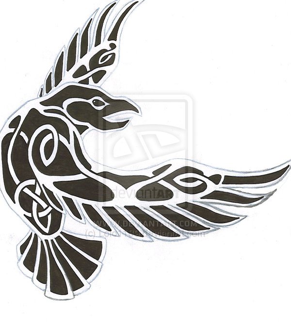 Celtic clipart raven Tattoo by less Colored Raven