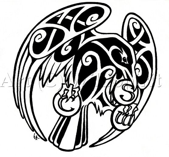 Drawn raven celtic Tattoo ideas on deviantART Best