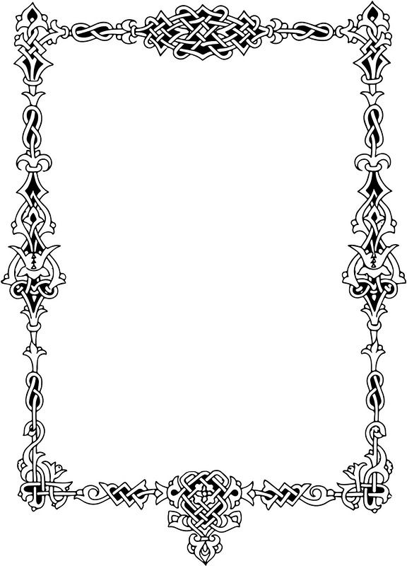 Celt clipart scroll This Flourishes ~ ~ Borders