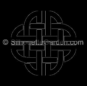 Celtic clipart silhouette Celtic Knot Knot Silhouette Silhouette