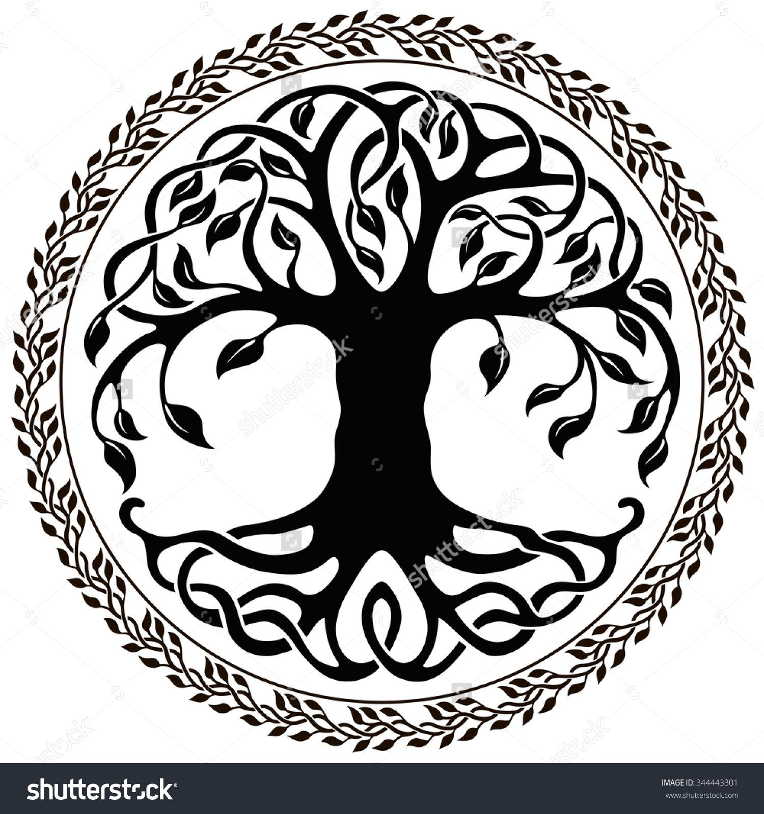 Celt clipart silhouette Best clip tree tree