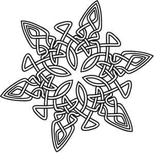 Celt clipart snowflake #4