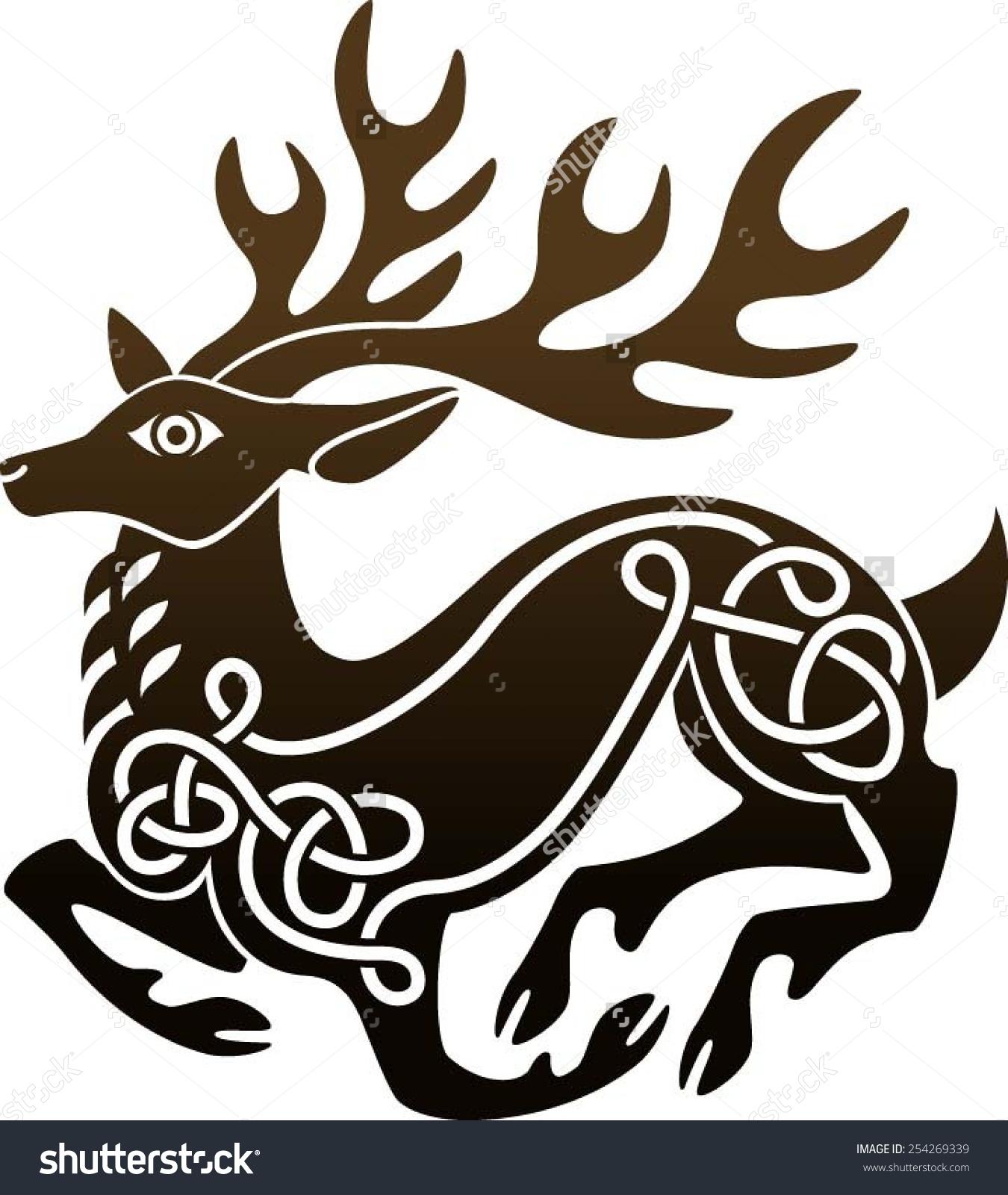 Celt clipart stag Celtic stag celtic – Maize