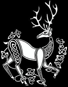 Celt clipart stag Stag stag Celtic Wicca Pagan
