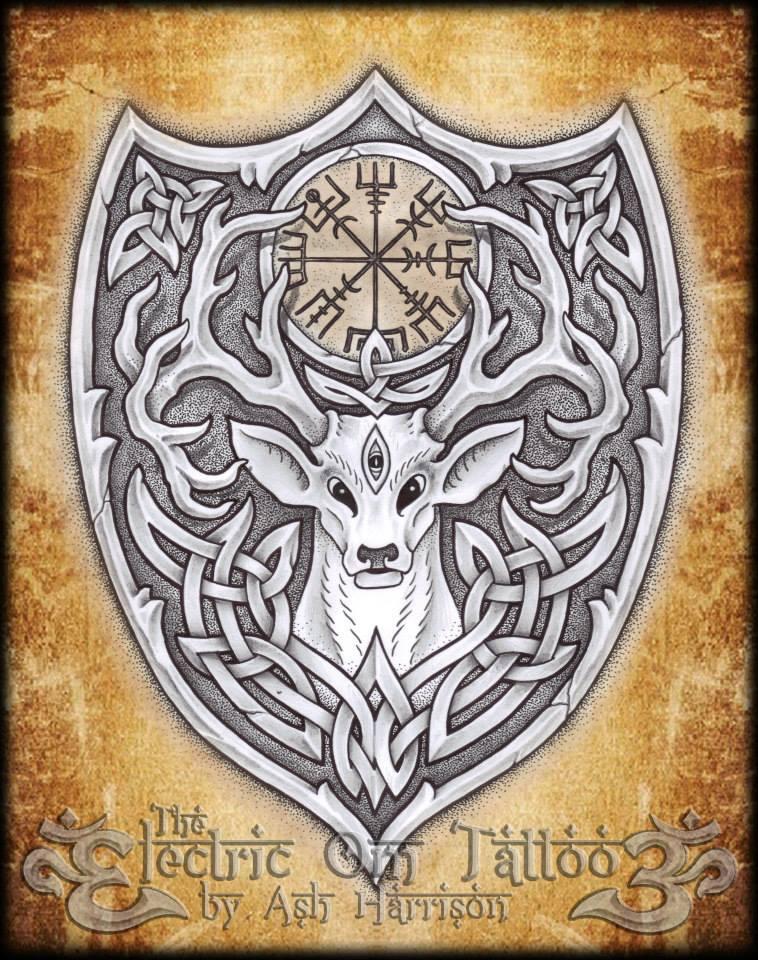 Celt clipart stag Tattoos ✿ Vegvisir Celtic Ash