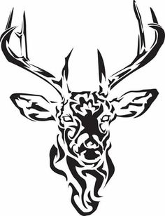 Drawn stag profile Tattoo  Celtic Stag ✿