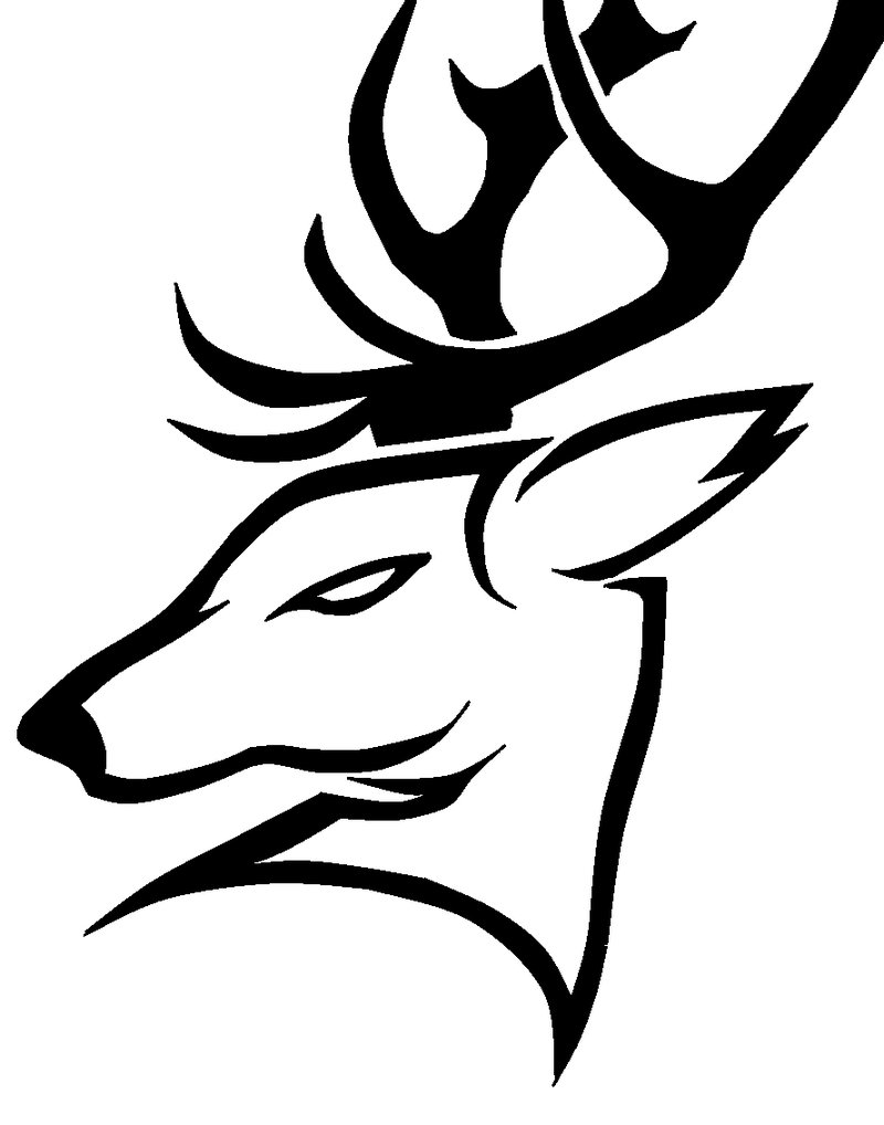 Drawn reindeer tribal Art Clip Free Tribal Download