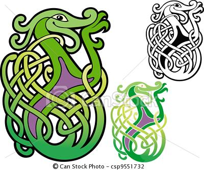Celtic clipart line Illustration Vector stock three Vector